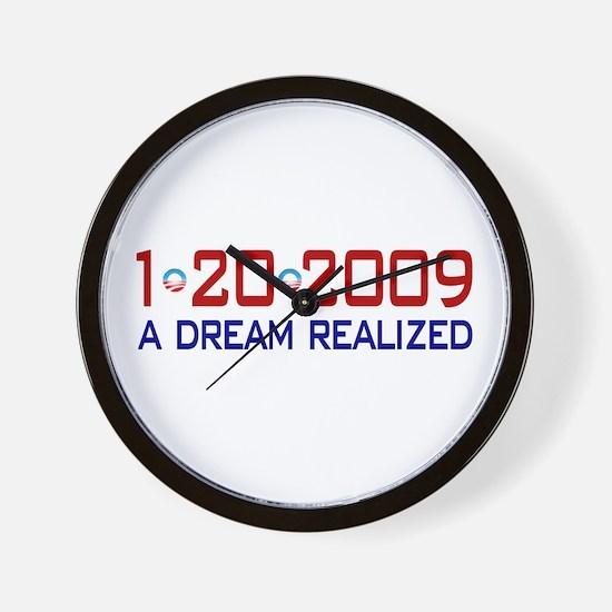 1-20-2009 Obama Dream Realized Wall Clock