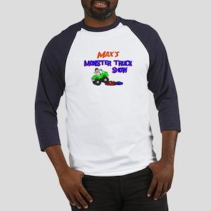 Max's Monster Truck Baseball Jersey