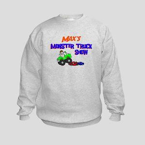 Max's Monster Truck Kids Sweatshirt