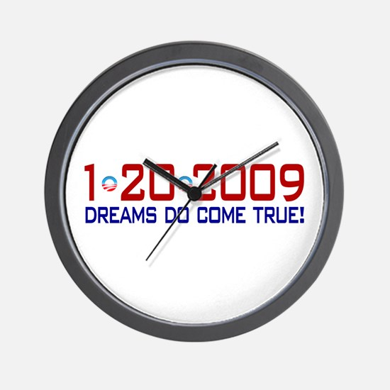 1-20-2009 Obama Dream Wall Clock