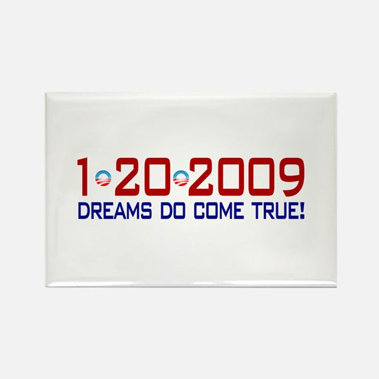 1-20-2009 Obama Dream Rectangle Magnet