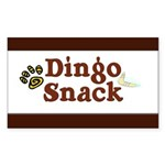 Dingo Snack Rectangle Sticker 50 pk)