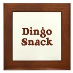Dingo Snack Framed Tile