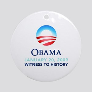 Obama Witness To History Ornament (Round)