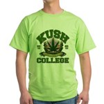 KUSH COLLEGE-2 Green T-Shirt