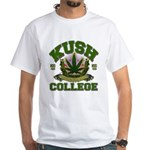 KUSH COLLEGE-2 White T-Shirt