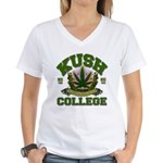 KUSH COLLEGE-2 Women's V-Neck T-Shirt