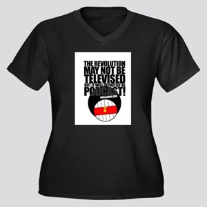 Uvula Audio Women's Plus Size V-Neck Dark T-Shirt