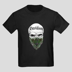 Davidson Tartan Bandit Kids Dark T-Shirt