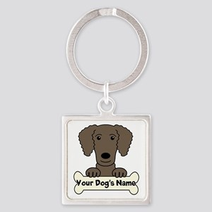 Personalized Curly-Coated Retrieve Square Keychain