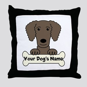 Personalized Curly-Coated Retriever Throw Pillow