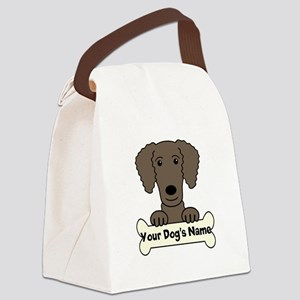 Personalized Curly-Coated Retriev Canvas Lunch Bag