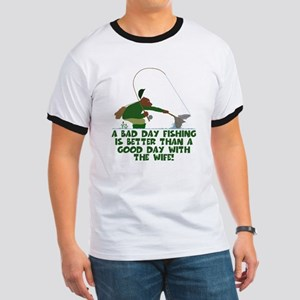 Funny Fly Fishing Ringer T