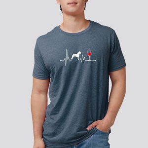 Heartbeat EKG Pulse Boxer and Wine Lover T-Shirt