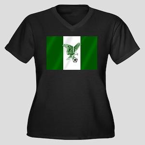 Nigerian Football Flag Women's Plus Size V-Neck Da
