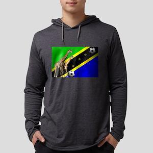 Tanzania Football Flag Mens Hooded Shirt