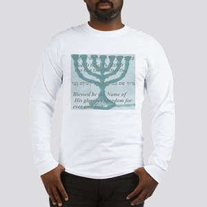 Shma Menorah Cloud Long Sleeve T-Shirt
