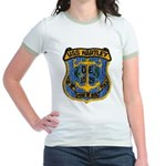 USS HARTLEY Jr. Ringer T-Shirt