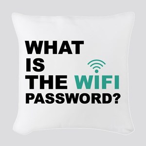 What is the Wi-Fi password Woven Throw Pillow