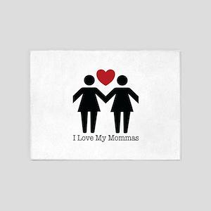 I Love My Mommas 5'x7'Area Rug