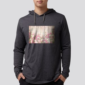 Beautiful Pink Tulip Floral Vi Long Sleeve T-Shirt