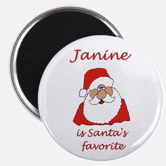 "Janine Christmas 2.25"" Magnet (10 pack)"