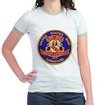 USS HARWOOD Jr. Ringer T-Shirt