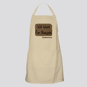 Will Work For Blowjobs BBQ Apron