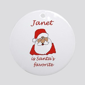 Janet Christmas Ornament (Round)
