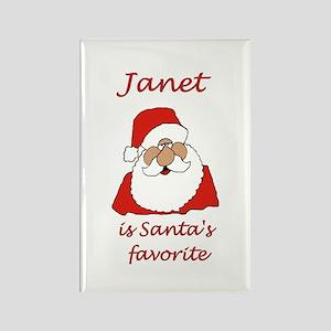 Janet Christmas Rectangle Magnet