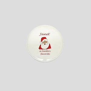 Janet Christmas Mini Button