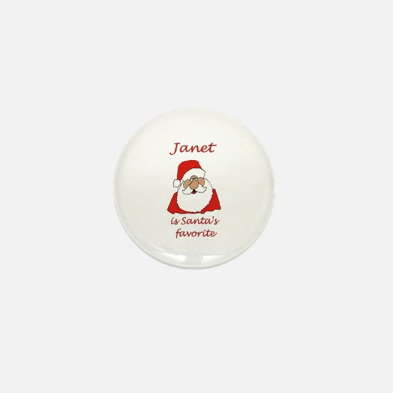 Janet Christmas Mini Button