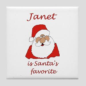 Janet Christmas Tile Coaster