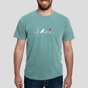Heartbeat EKG Pulse Border Collie and Wine T-Shirt