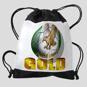 Nigerian Football Gold Drawstring Bag