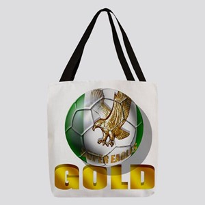 Nigerian Football Gold Polyester Tote Bag