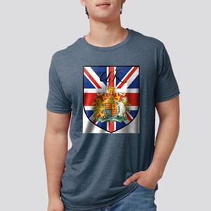 UK Flag Crest Shield White T-Shirt
