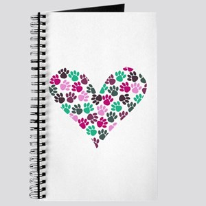 Paw Print Heart Journal