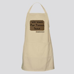 Will Work For Tossed Salad BBQ Apron