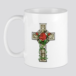 Celtic Rose Cross Mug