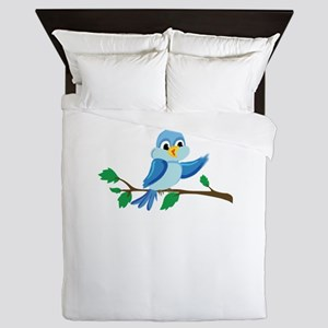 Funny Bird Finger Flipping Queen Duvet