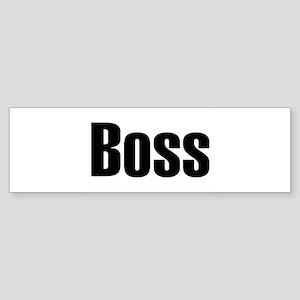Boss Bumper Sticker
