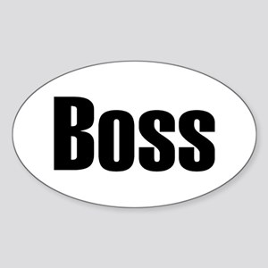 Boss Oval Sticker