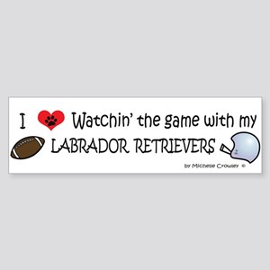football - labs Bumper Sticker