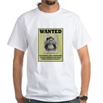 Columbus Wanted Poster White T-Shirt