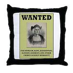 Columbus Wanted Poster Throw Pillow