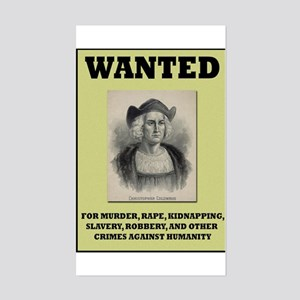 Columbus Wanted Poster Rectangle Sticker