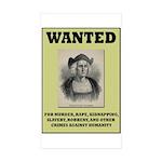 Columbus Wanted Poster Sticker (Rectangle 50 pk)