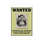 Columbus Wanted Poster Sticker (Rectangle 10 pk)