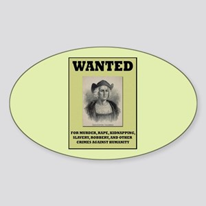 Columbus Wanted Poster Sticker (Oval)